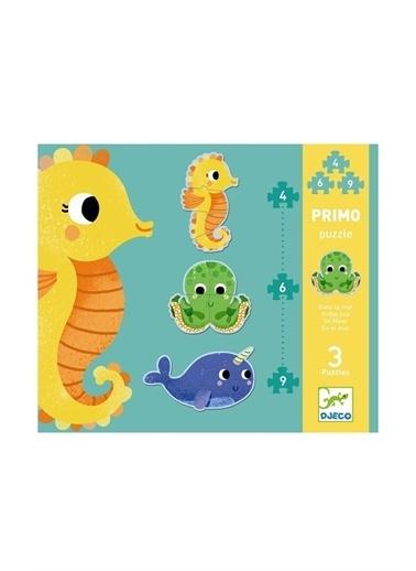 Djeco Djeco Dev Puzzle/ Deniz Canlıları 4-6-9 Parça Pembe